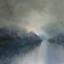 Moonlight Whispers 90cm x 90cm