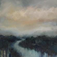 The River Waits 76cm x 76cm